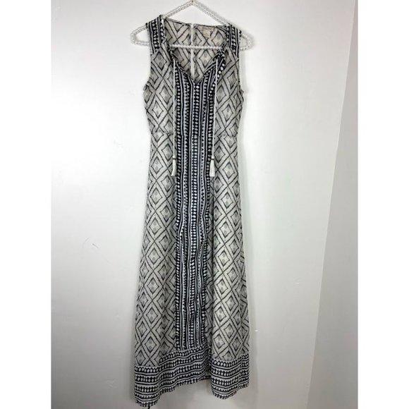 Lucky Brand Black / WhiteBoho Maxi Dress XS